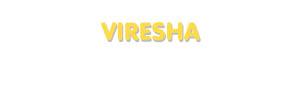 Der Vorname Viresha