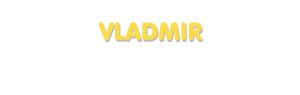 Der Vorname Vladmir