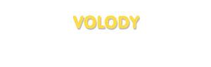 Der Vorname Volody