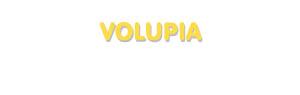 Der Vorname Volupia