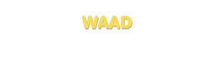 Der Vorname Waad