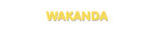 Der Vorname Wakanda