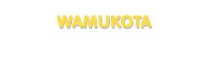 Der Vorname Wamukota
