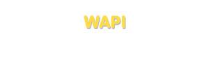 Der Vorname Wapi