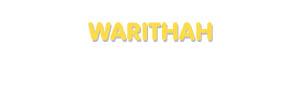 Der Vorname Warithah