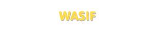 Der Vorname Wasif
