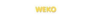 Der Vorname Weko