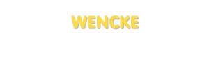 Der Vorname Wencke