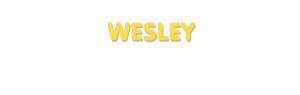 Der Vorname Wesley