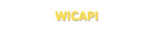 Der Vorname Wicapi
