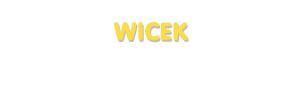 Der Vorname Wicek