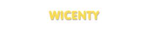 Der Vorname Wicenty