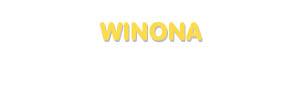 Der Vorname Winona