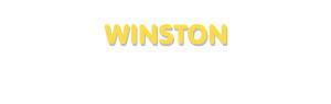 Der Vorname Winston