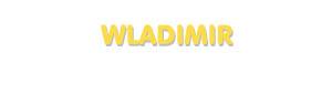 Der Vorname Wladimir