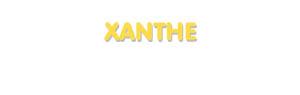 Der Vorname Xanthe