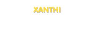 Der Vorname Xanthi