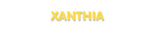 Der Vorname Xanthia