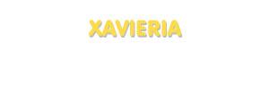 Der Vorname Xavieria