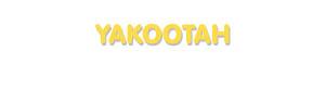 Der Vorname Yakootah
