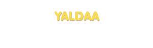 Der Vorname Yaldaa