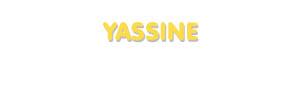 Der Vorname Yassine