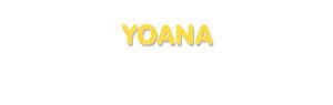 Der Vorname Yoana