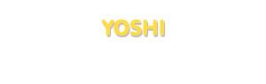 Der Vorname Yoshi