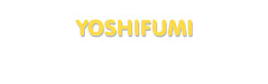Der Vorname Yoshifumi