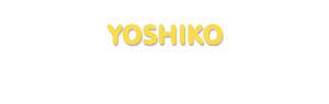 Der Vorname Yoshiko