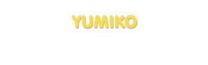 Der Vorname Yumiko