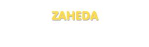 Der Vorname Zaheda