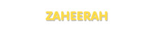 Der Vorname Zaheerah