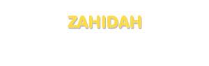 Der Vorname Zahidah