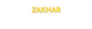 Der Vorname Zakhar
