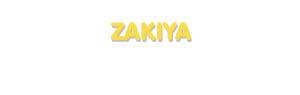 Der Vorname Zakiya