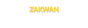 Der Vorname Zakwan