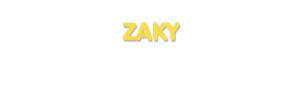 Der Vorname Zaky