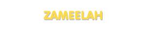 Der Vorname Zameelah