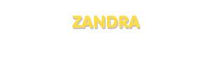 Der Vorname Zandra