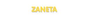 Der Vorname Zaneta