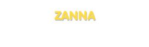 Der Vorname Zanna