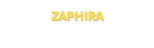 Der Vorname Zaphira