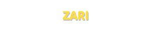 Der Vorname Zari