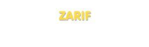 Der Vorname Zarif
