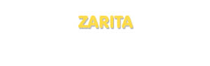 Der Vorname Zarita