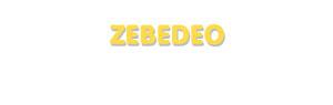 Der Vorname Zebedeo