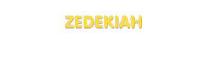 Der Vorname Zedekiah