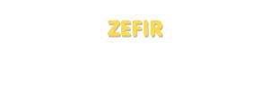 Der Vorname Zefir