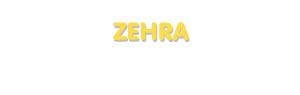 Der Vorname Zehra